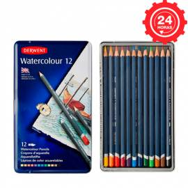 Derwent Watercolour 12 Lápices de Color Acuarelables