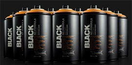 Pintura en Spray Montana Cans Black