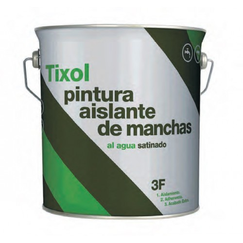 Pintura Tixol Satinado 3F - 750ml, 4 y 10lts. - Antimanchas