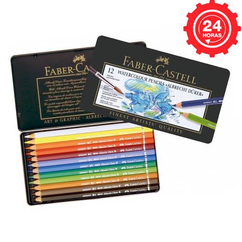 Faber-Castell 12 Lápices de Color Acuarelables