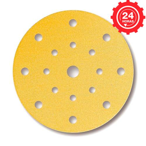 Disco de lijado Mirka Gold 150mm. Grip 15A P80