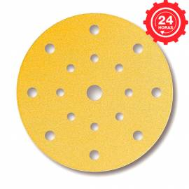 Disco de lijado Mirka Gold 150mm. Grip 15A P128