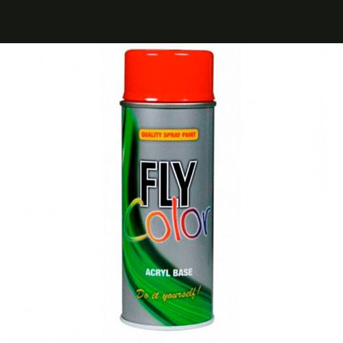 Fly ral 9005 mate 400 ml.