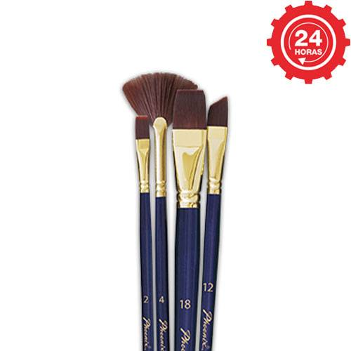 Set de 4 pinceles Phoenix Acrilyc y Watercolour Especial Efects
