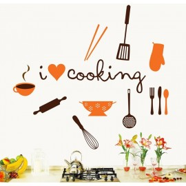 Sticker Myvinilo I Love Cooking